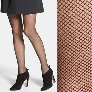 Kate Spade New York NEW Sparkle Fishnet Tights S/M